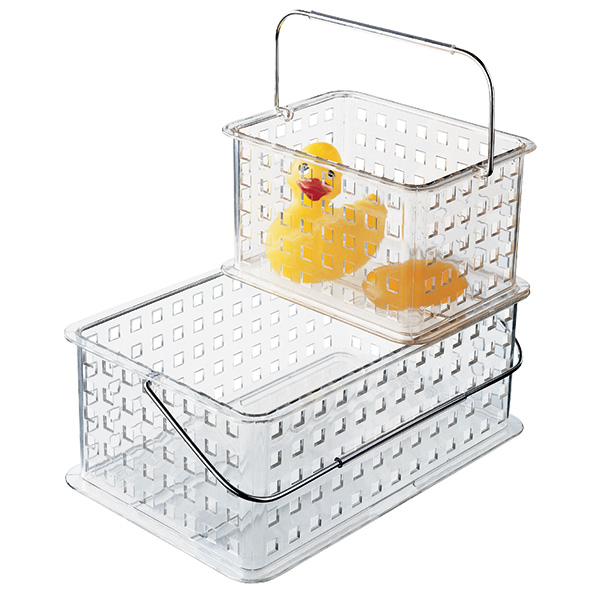 Clear Grid Totes