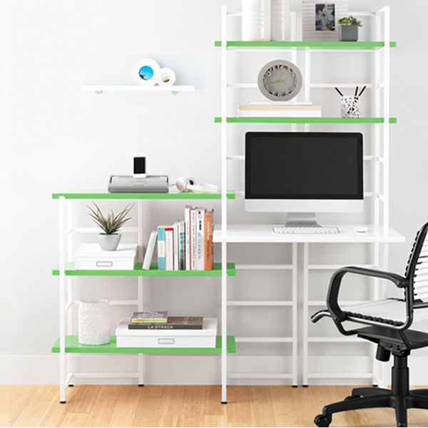 Connections® Desk Green & White