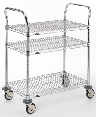 Metro® Commercial 3-Shelf Serving Cart