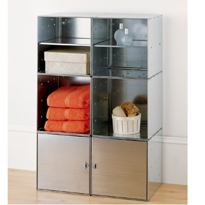 Steel Cube Bath Storage Galvanized
