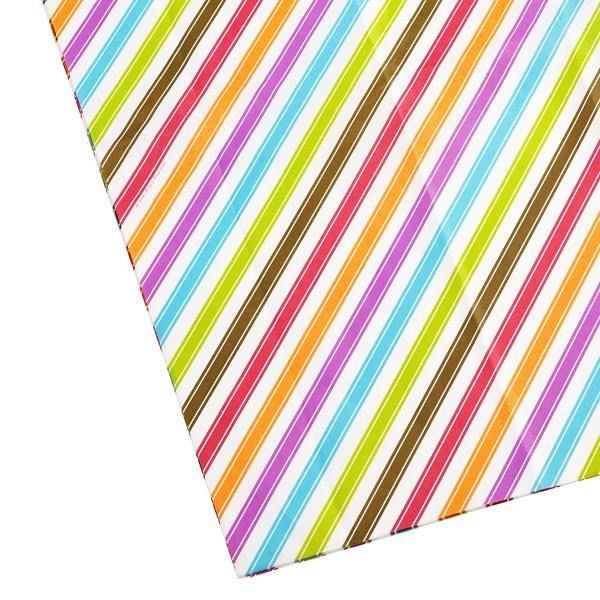 Bright Stripes Tissue Sheets Pkg/4