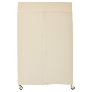 InterMetro Clothes Rack with Cotton Canvas Cover  e9fbb7a4eec2b