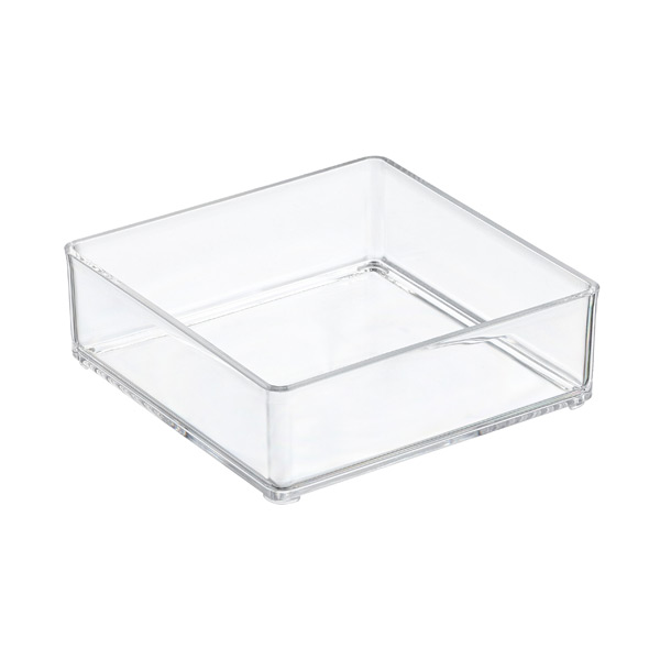 Acrylic stackable drawer organizers the container store - Stackable 20desk 20organizer ...