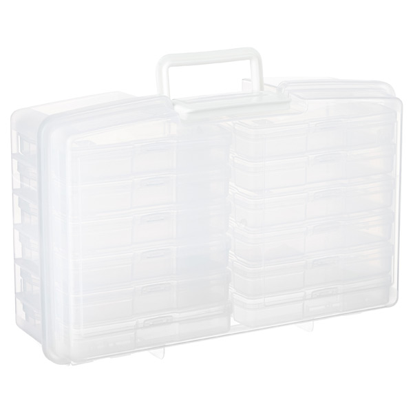 "12-Case 4"" x 6"" Photo Storage Carrier Translucent"
