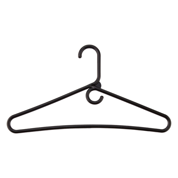 Case of 36 Heavyweight Hangers Black