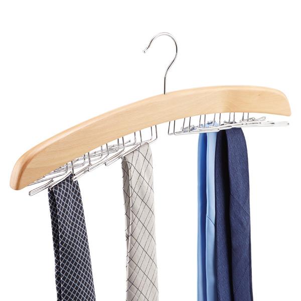 Natural 24 Tie Hardwood Hanger