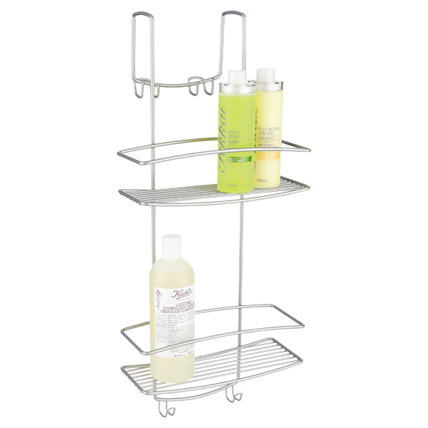 basket shower shelf aluminum holder shampoo bath quality corner item tiers bathroom