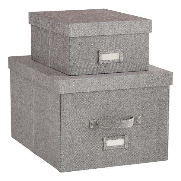 grey storage boxes the container store. Black Bedroom Furniture Sets. Home Design Ideas