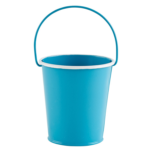 Small metal pail the container store for Tiny metal buckets