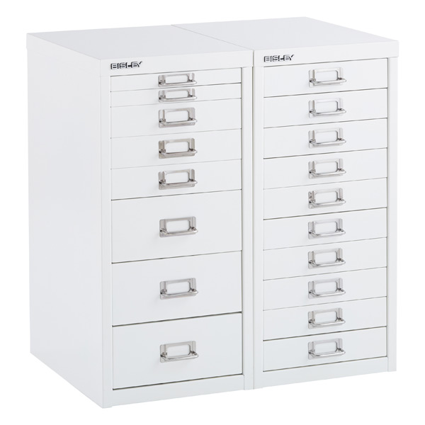 bisley white 8- & 10-drawer collection cabinets | the container store