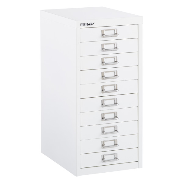 Bisley White 8 10 Drawer Collection Cabinets