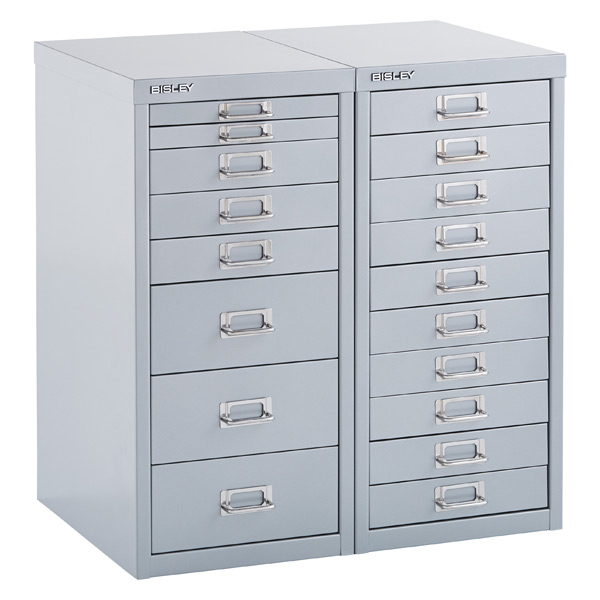 Silver Bisley Collection Cabinets ...  sc 1 st  The Container Store & Bisley Silver 8- u0026 10-Drawer Collection Cabinets | The Container Store