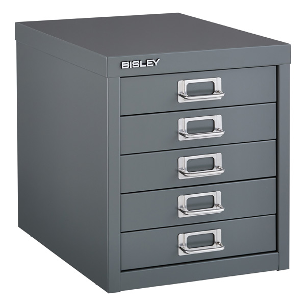 Drawer Cabinet Bisley Graphite 5 Drawer Cabinet The Container Store