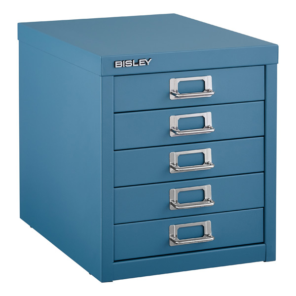 Blue Bisley 5 Drawer Cabinet ...