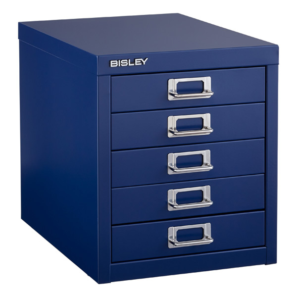 Marvelous Oxford Blue Bisley 5 Drawer Cabinet ...