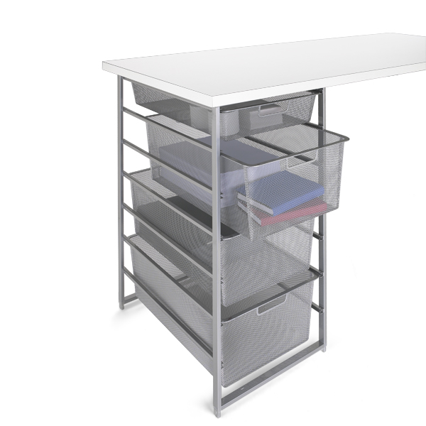 Platinum Elfa Mesh Desk Drawers Idea