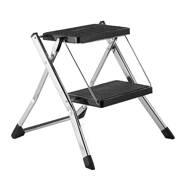 Chrome Slim Folding Step Stool The Container Store