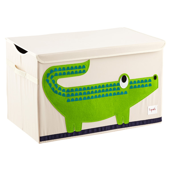 Crocodile Toy Chest by 3 Sprouts ...  sc 1 st  The Container Store & 3 Sprouts Crocodile Toy Storage Box with Handles | The Container Store