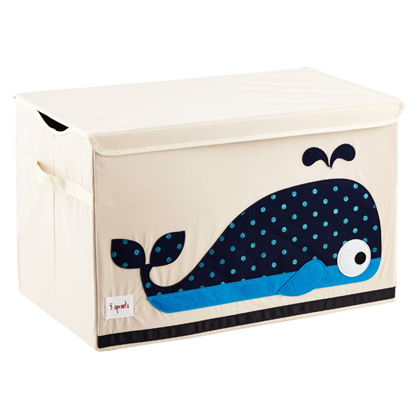 Charmant 3 Sprouts Whale Toy Storage Box With Handles