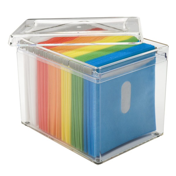 120-Disc Rainbow Acrylic Storage Box | The Container Store