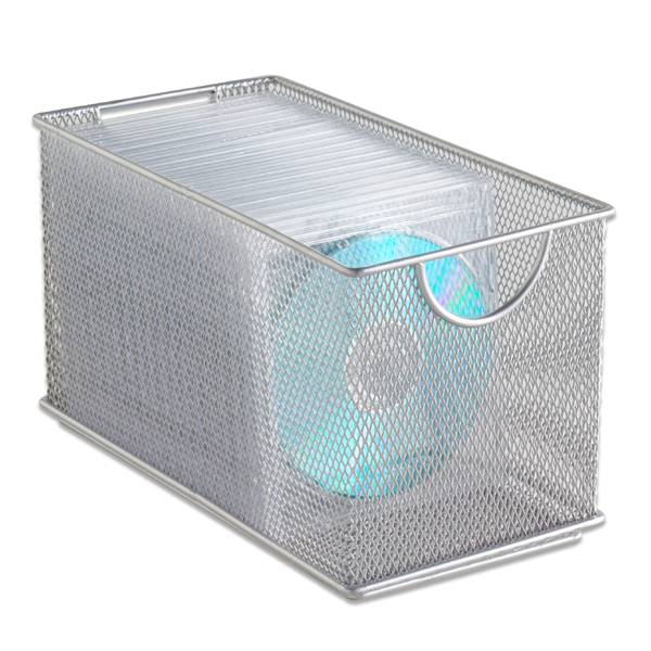 Silver Mesh CD Bin | The Container Store