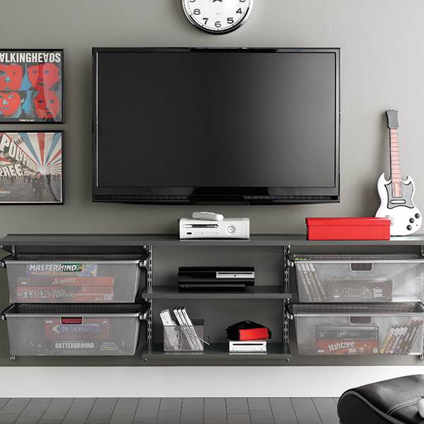 driftwood platinum media center - Media Center With Bookshelves