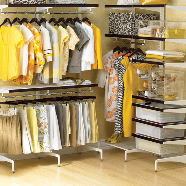 walnut white freestanding closet elfa system cost sale video