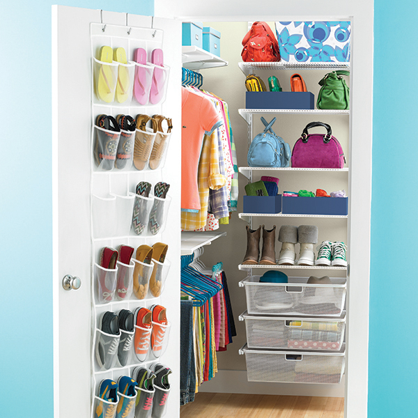 White elfa Walk-In Teen Closet