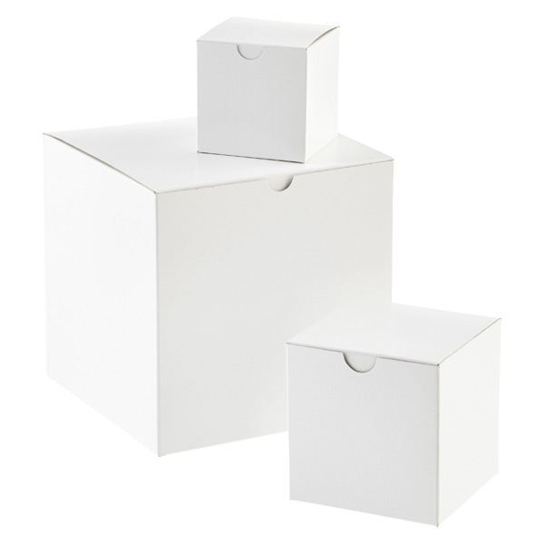 White 1-Piece Cube Gift Boxes