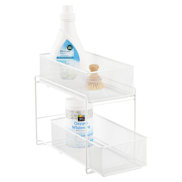 White 2-Drawer Mesh Organizer