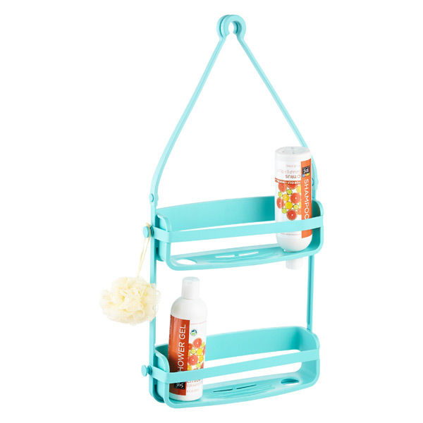 Umbra Teal Flex Shower Caddy | The Container Store