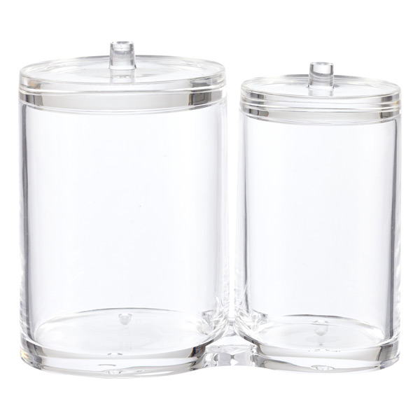 Acrylic Dual Canister Set