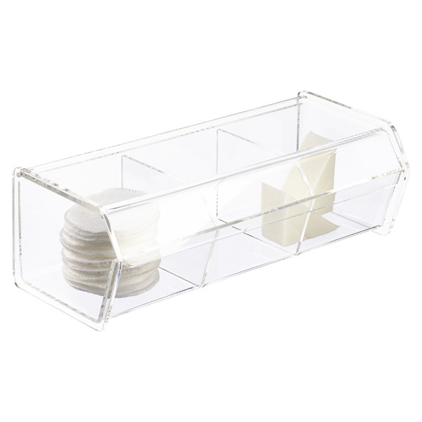 3 Section Acrylic Hinged Lid Box The Container Store
