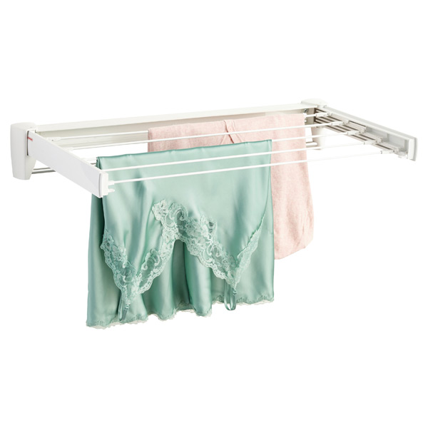 Fold Away Wall Mounted Clothes Drying Rack The Container Store
