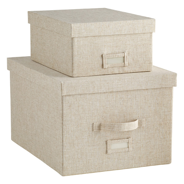 Superieur Linen Storage Boxes ...