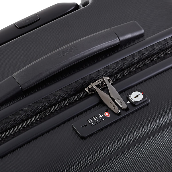 "Matte Black  25"" Lucid 4-Wheeled Luggage"