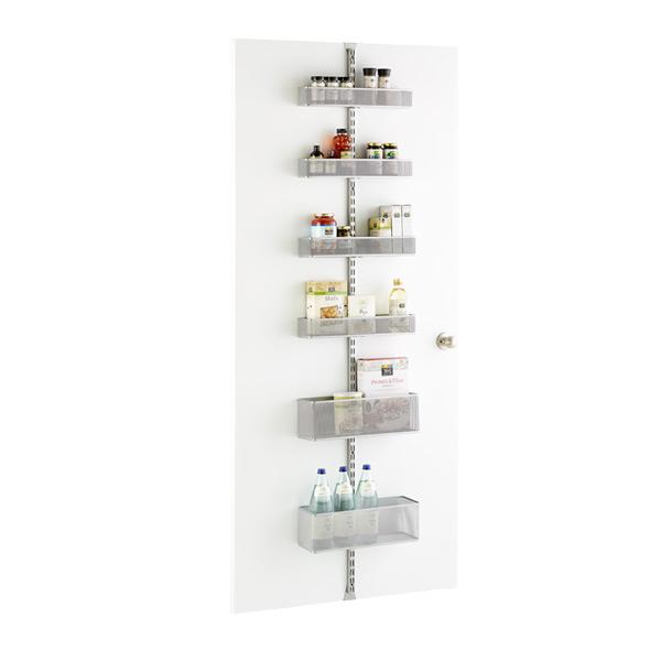 Platinum Elfa Utility Mesh Pantry Door U0026 Wall Rack