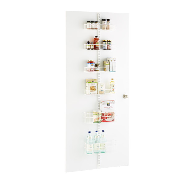 White Elfa Utility Pantry Door Wall Rack Solution The Container