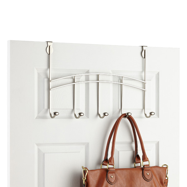 Nickel Duchess 5-Hook Overdoor Rack
