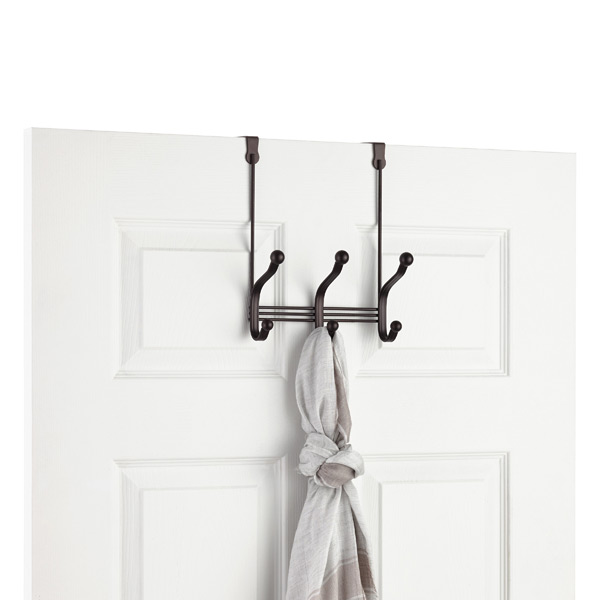 Bronze York Overdoor Coat & Hat Rack