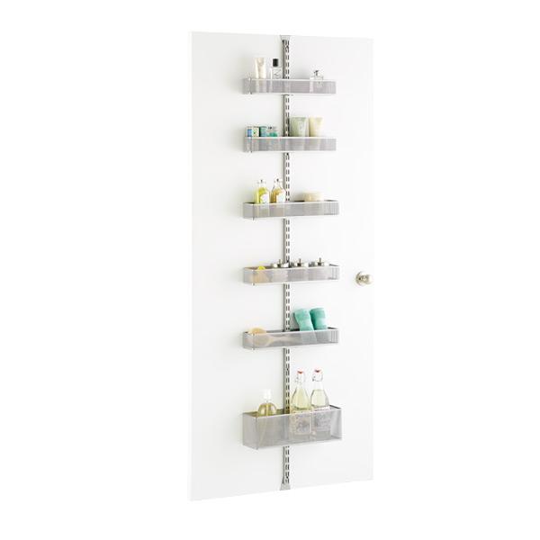 Wall Rack For Bathroom : Platinum elfa utility Mesh Bathroom Door & Wall Rack Solution