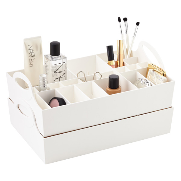 Adjustable Makeup Organizer Tray The Container Store