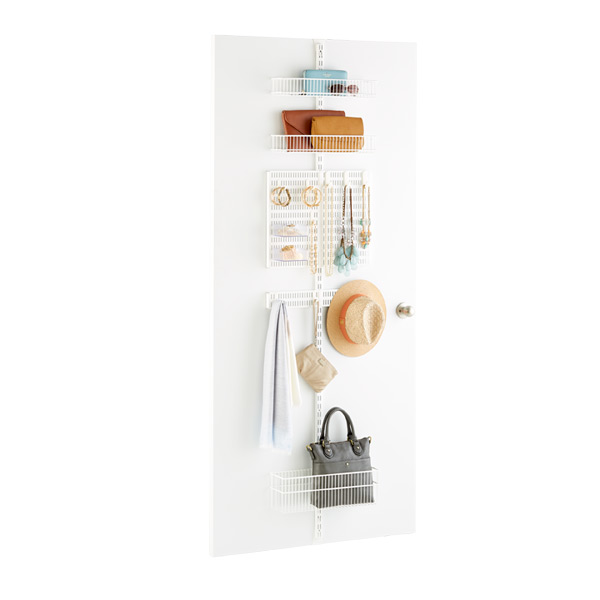 White Elfa Utility Door U0026 Wall Rack System Components