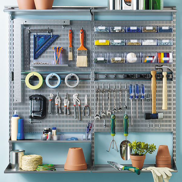 Platinum Elfa Utility Wall The Container Store