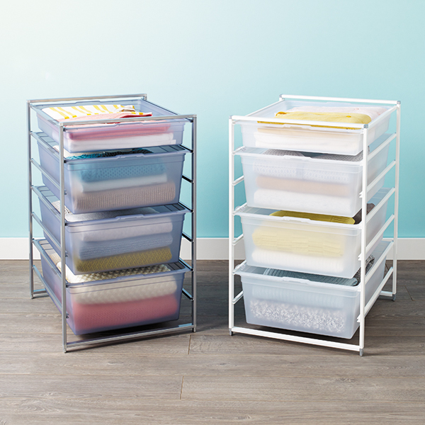 Platinum elfa Solid Drawer Start-A-Stack | The Container Store