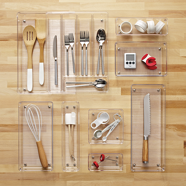 Idesign Linus Shallow Drawer Organizers The Container Store