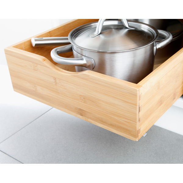 Fabulous Cabinet Drawers - Bamboo Pull-Out Cabinet Drawers | The Container  QG43