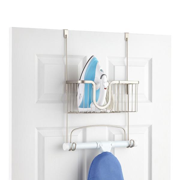 Interdesign Over The Door York Ironing Board Hanger With Utility