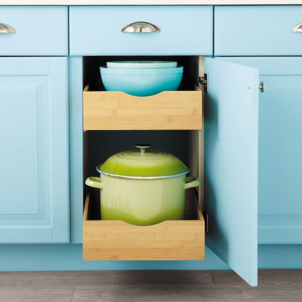& Cabinet Drawers - Bamboo Pull-Out Cabinet Drawers | The Container Store