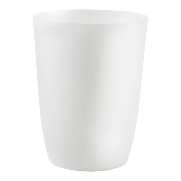 dd4884fc57b Umbra White Metallic Matte Suede Trash Can
